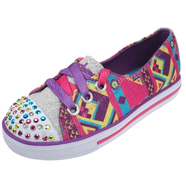 35345 Ville Chit Rose Lumieres Chat Chaussures Mode Skechers CWBxdoer