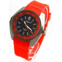 Sbao Femme - Montre Femme Silicone Rouge 2286