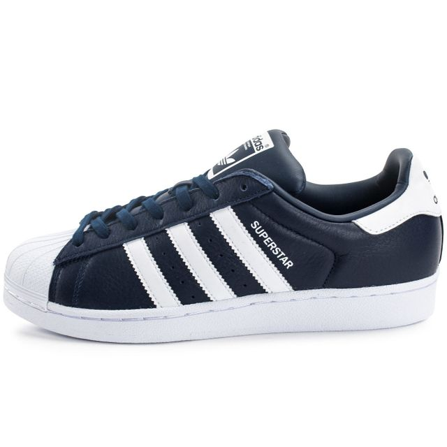 Adidas originals - Superstar Cuir Bleu Marine