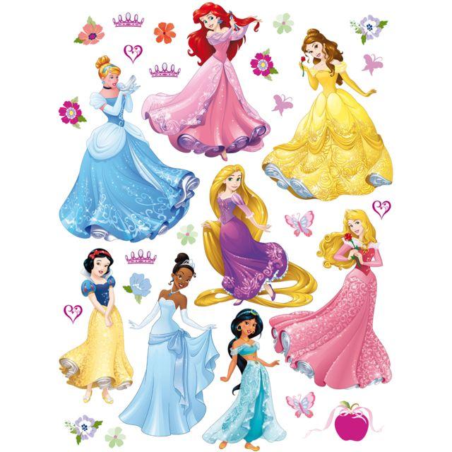 Bebe Gavroche Stickers Geant 8 Princesses Disney Multicolore Pas