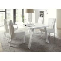 meubles thiry chaise de salle manger simili cuir blanc alfe - Chaise Cuir Blanc