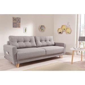 bobochic oslo canap 3 places convertible 215x90x90cm gris clair 215cm x 90cm x 90cm. Black Bedroom Furniture Sets. Home Design Ideas