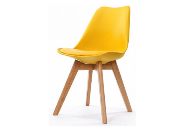 declikdeco chaise design style scandinave jaune esben pas cher achat vente chaises. Black Bedroom Furniture Sets. Home Design Ideas