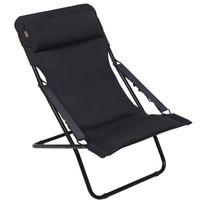 Lafuma Mobilier - Lafuma Transabed Xl plus - Chaise pliante - noir