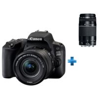 CANON - Appareil photo reflex 200D 18-55 + Zoom Téléobjectif EF 75-300/4.0-5.6 III USM