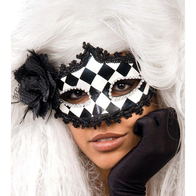 Carnival Toys Masque Loup Arlequin Noir Et Blanc Pas Cher Achat