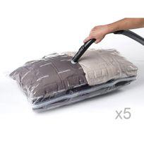 Compactor - Sac de rangement en nylon et polyéthylène avec aspiration d'air - Lot de 5 Aspispace - M