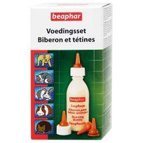 Beaphar - Pack Biberon et Tétine + Brosse à Nettoyer