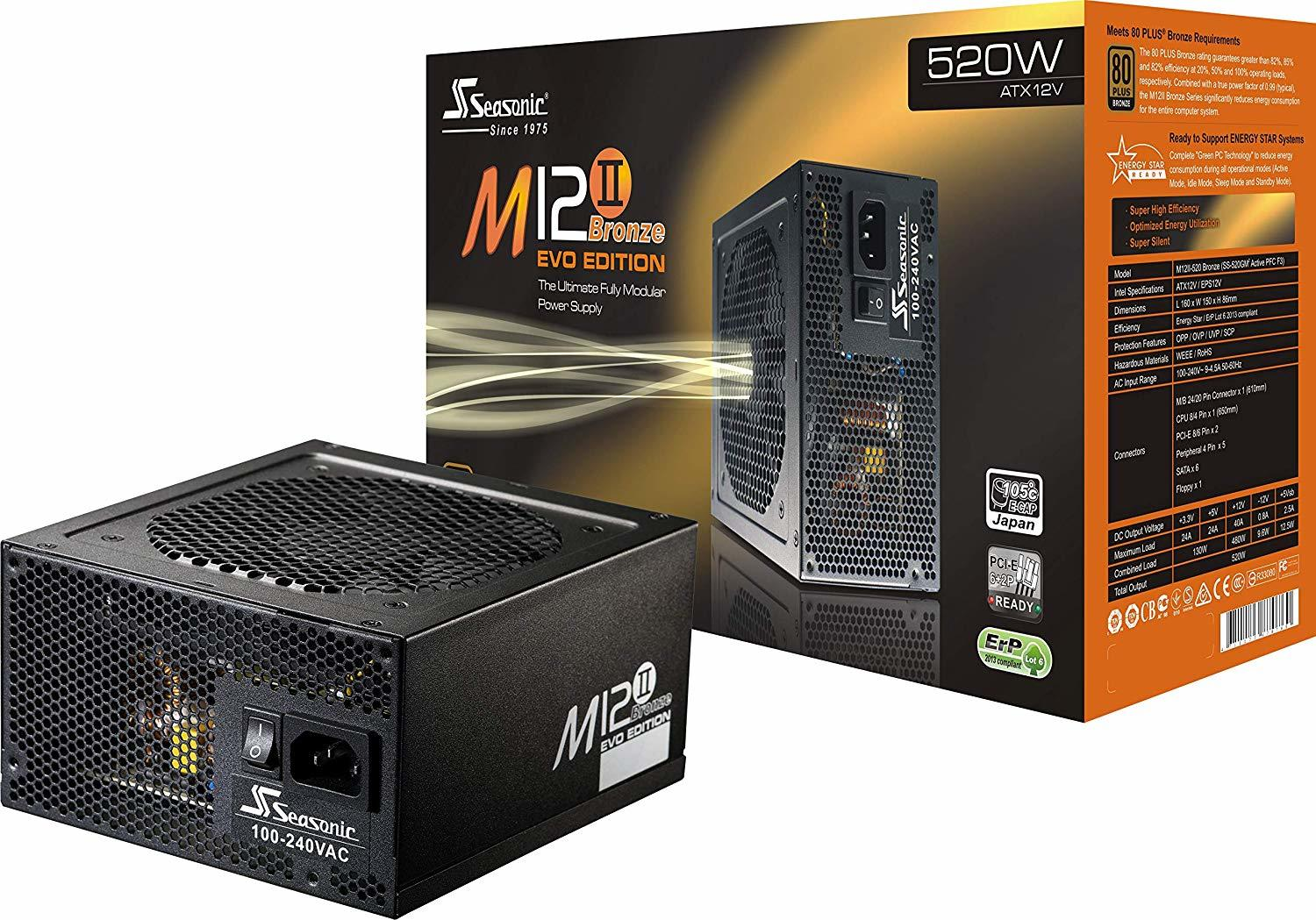 M12II-520 EVO - 520 W - 80 Plus Bronze