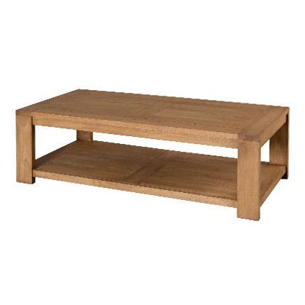 Table basse rectangulaire 120 x 60 cm sous plateau Hambourg - bois naturel