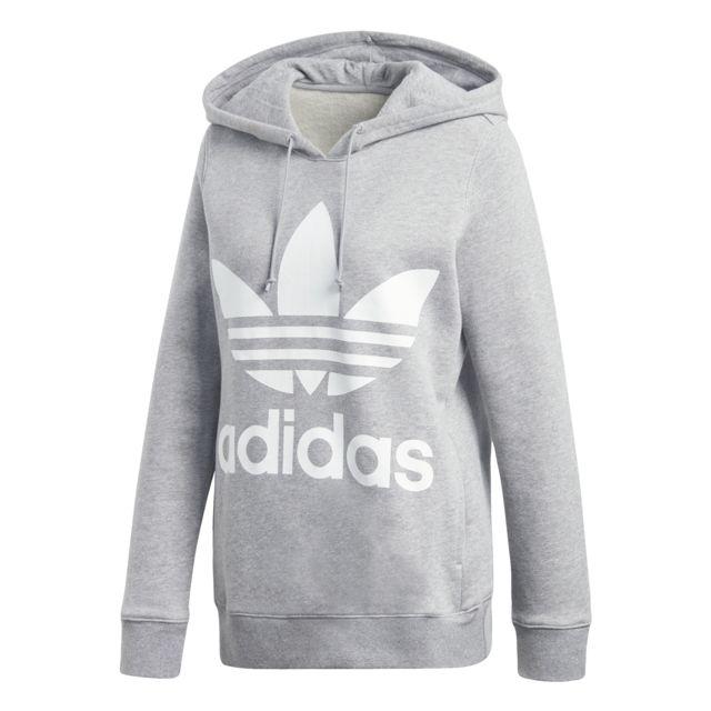Adidas Hoodie oversize femme Trefoil pas cher Achat