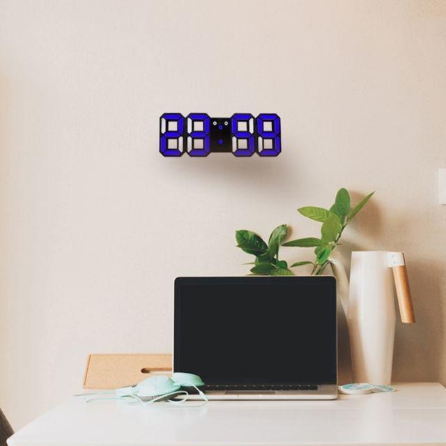 Wewoo - Horloge murale bleu pour la maison, cuisine, bureau, Dc 5V ...