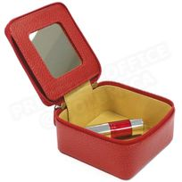 Volumica - Boîte à bijoux cuir Rouge Beaubourg