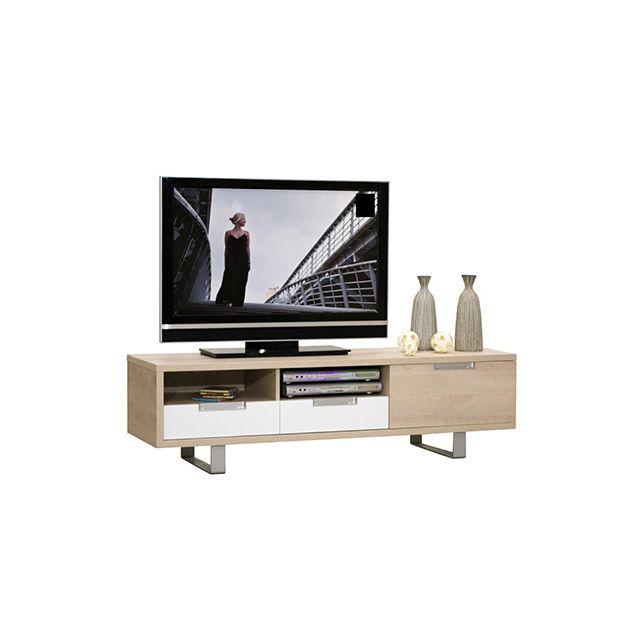 Meuble télé 1 porte 2 tiroirs L160xH45xP45cm