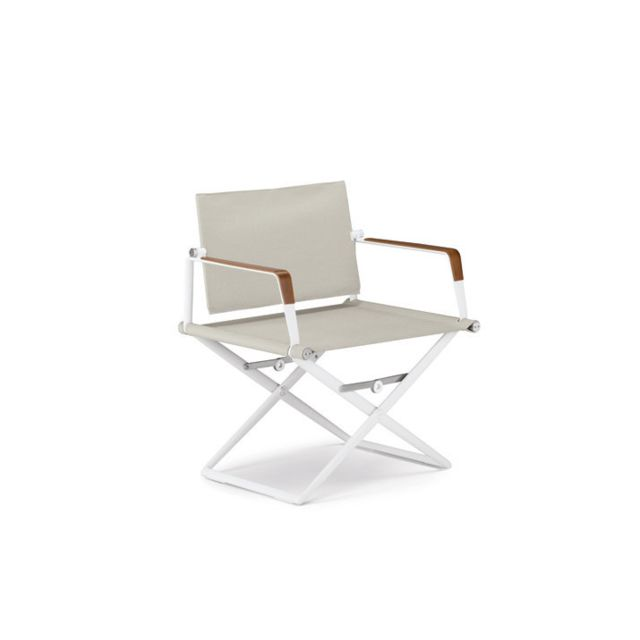Dedon SeaX Lounge Chair - blanc - sail dove