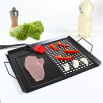 Astuceo - Maxi grille de barbecue 2 en 1