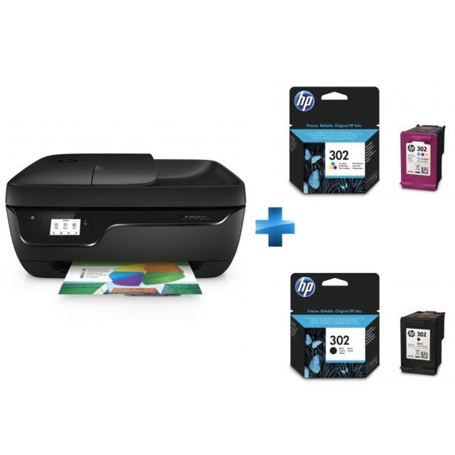 HP - OfficeJet 3831 multifonction 4 en 1 - Cartouche d encre origine 302  Noir - Cartouche d encre origine 302 3 couleurs - pas cher Achat   Vente  Imprimante ... 509af606bbbb