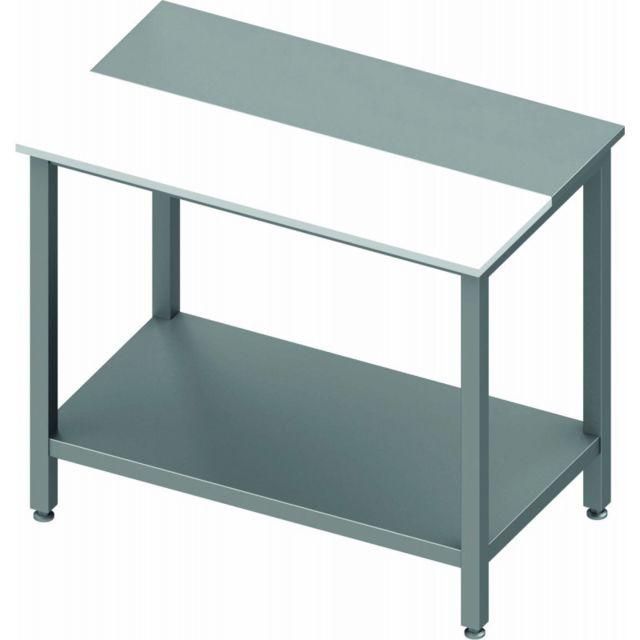 Materiel Chr Pro Table Inox de Travail Cuisine - Avec Etagère - Gamme 600 - Stalgast 600