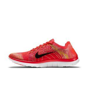 Nike Free 4.0 Flyknit - Ref. 717075-600 Orange - Chaussures Chaussures-de-running Homme