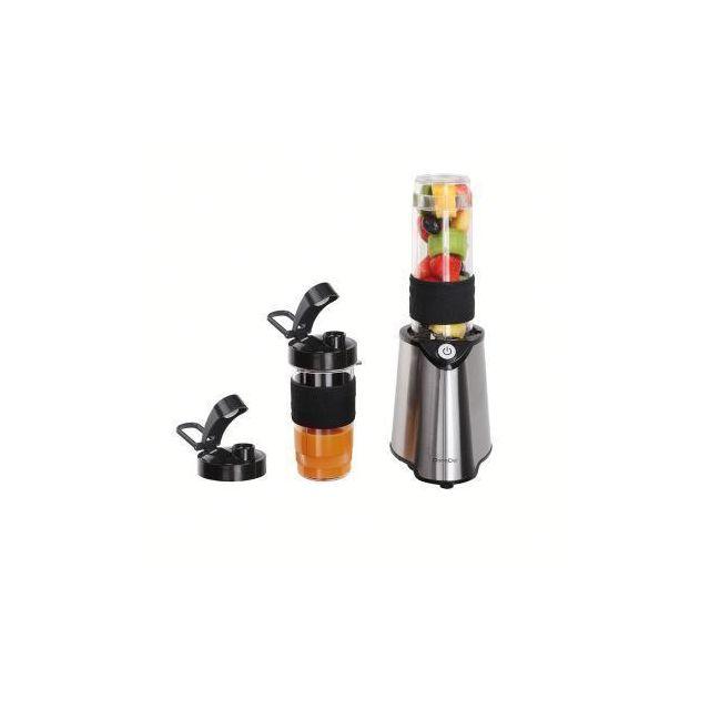 DOMOCLIP Blender individuel noir - DOP170N Blender individuel noir - 2 gobelets mélangeur - 570 ml - 400 ml servant de gourde