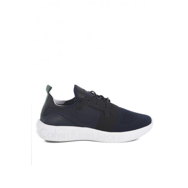 Calvin Klein Jeans Sneakers Chaussons Ultra Light Logotées Mel  -  Jeans les BLEUS - Chaussures Baskets basses Homme
