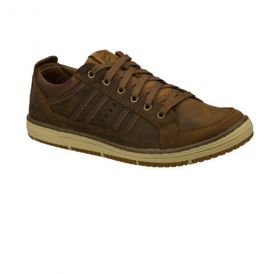 Skechers Chaussures Irvin Hamal Brown h16 pas cher Achat