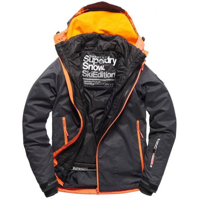 Superdry Super G Multi Scratch BlackFluro Orange pas