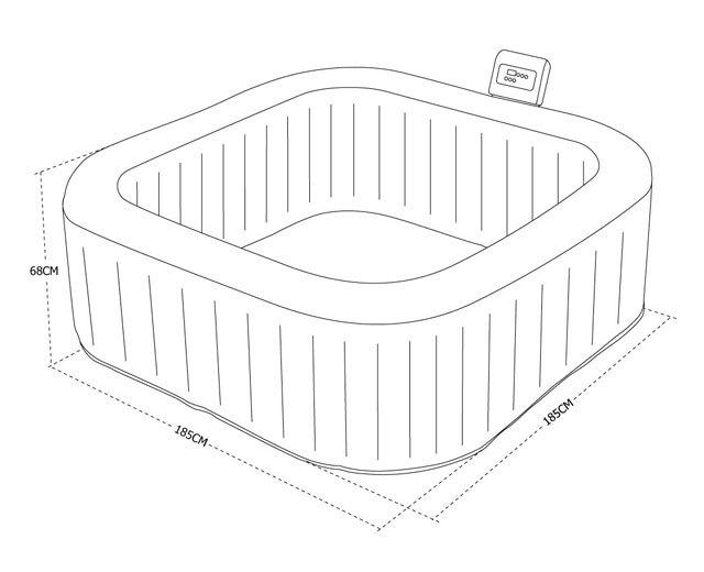 alice 39 s garden spa gonflable 6 places carr toronto. Black Bedroom Furniture Sets. Home Design Ideas