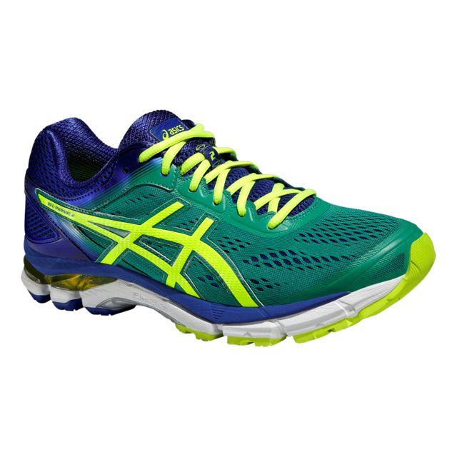 best service 0b814 dc2bc Asics - Asics Gel Pursue 2 Verte Et Bleue Chaussures de running