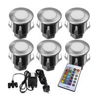 Genial Lumihome   Kit 6 Mini Spots Led Encastrable Multicolore Avec Télécommande