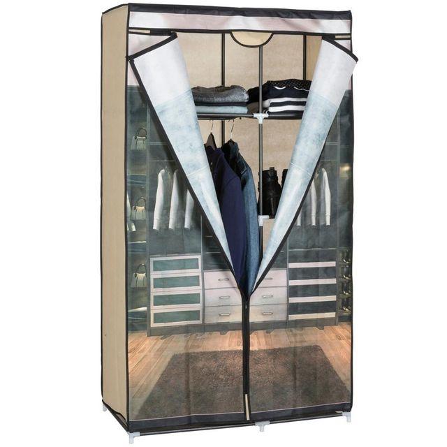 MAISON FUTEE - Armoire penderie 6 étagères - Design Closet - pas ...