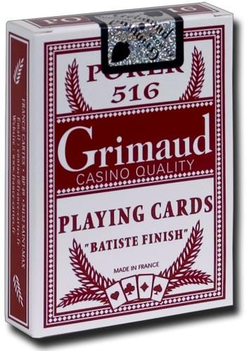Poker Production - Jeu de 52 cartes : Poker 516 Rouge