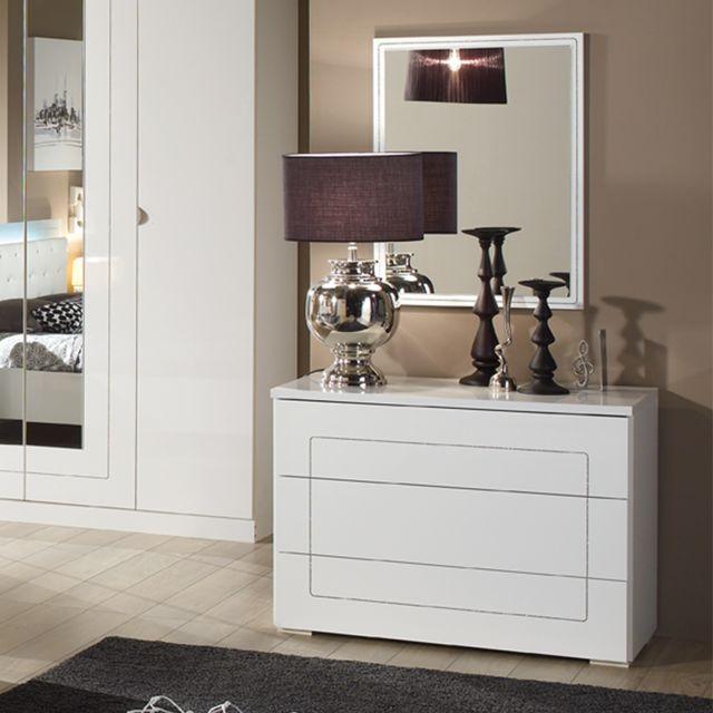 Nouvomeuble Miroir mural blanc design Alvara