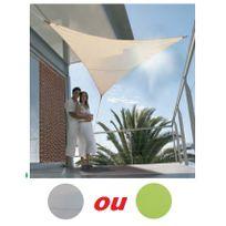 PARASOL - Voile d'ombrage triangulaire en toile 3.60m protection 50 VERT BRICODEAL