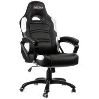 NITRO CONCEPTS - Fauteuil Gaming C80 Comfort - Noir/Blanc