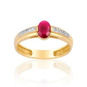Bague diamant rouge pas cher