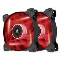 CORSAIR - Ventilateur AF120-LED Quiet Edition - High Airflow - 120 mm - LED Rouge - TWIN PACK