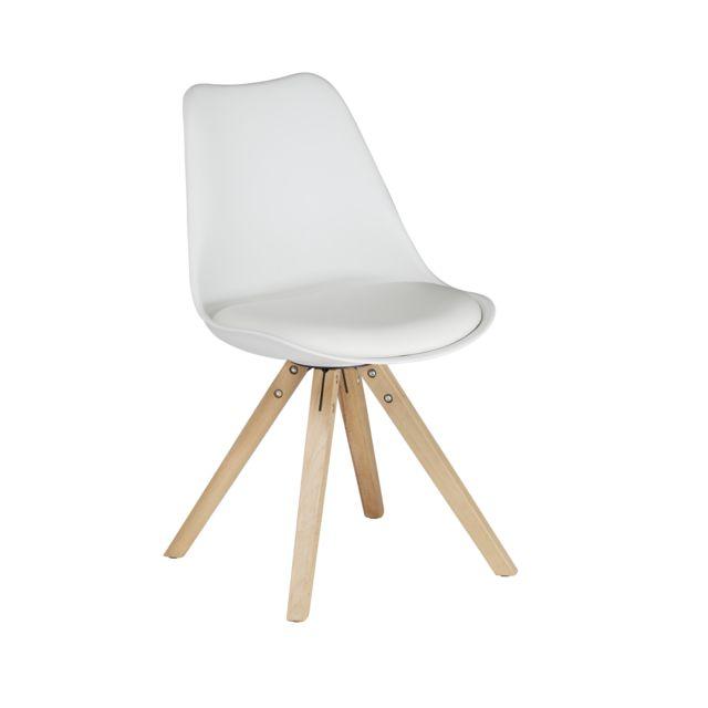 RUE DU COMMERCE MANHATTAN - Chaise blanche avec pieds en hêtre Normal 0 false false false EN-US X-NONE X-NONE