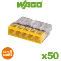 Wago - Flacon de 50 mini bornes de connexion automatique 5 entrées S2273
