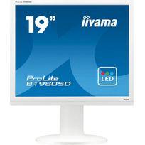 Iiyama - ProLite B1980SD-W1 - Écran LED - 19'' - 1280 x 1024 - TN - 250 cd m2 - 1000:1 - 5000000:1 dynamique 5 ms - DVI-D, VGA - haut-parleurs - blanc