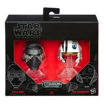 Hasbro - Star Wars - Star Wars Mini Casque Die Cast Black Series Kylo Ren & Poe Dameron