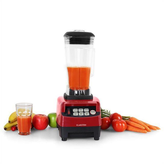 KLARSTEIN mixeur 2L blender caisson insonorisation 1500W 2,0 CV sans BPA - rouge