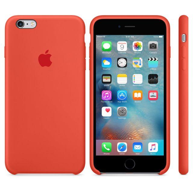 APPLE iPhone 6s Plus Silicone Case - Orange - MKXQ2ZM/A Quoi de mieux qu'une coque signée Apple pour protéger votre iPhone ?!