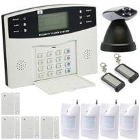 EMATRONIC - Alarme maison sans-fil-filaire GSM et caméra IP 4-5 pièces