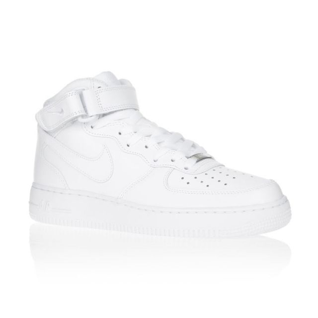 pretty nice 17420 e354d Nike - Nike Baskets Air Force 1 Mid Homme. Couleur   Blanc