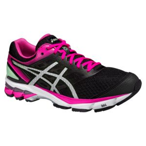 Asics - Gel Stratus 2 Noire Et Rose Chaussures Running femme