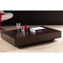 La Seggiola - Table basse relevable extensible Block design wengé