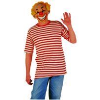Festiveo - Déguisement Tee-Shirt Rayé Rouge et Blanc