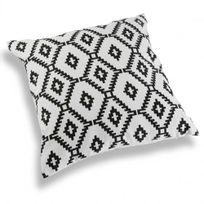 Inside 75 - Coussin Ori blanc motif origami noir