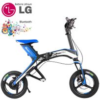 Moovway - Mini scooter électrique pliable batterie lithium grande autonomie port usb 30 km/h 48V Bleu connecté bluetooth